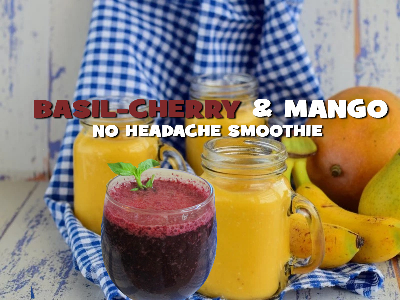 Basil-Cherry Smoothie