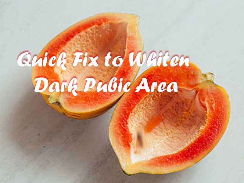 dark pubic area