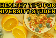 Healthy tips for university students
